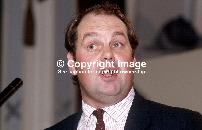 Roger Liddle, prominent member, SDP, Social Democratic Party, UK, 19840109RL1.<br />