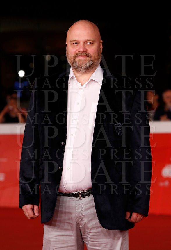 Il regista russo Aleksey Fedorchenko sul red carpet per la presentazione del suo film &quot;Angeli della rivoluzione&quot; al Festival Internazionale del Film di Roma, 22 ottobre 2014.<br /> Russian director Aleksey Fedorchenko poses on the red carpet for the screening of his movie &quot;Angely Revolucii&quot; (&quot;Angels of Revolution&quot;) during the international Rome Film Festival at Rome's Auditorium, 22 October 2014.<br /> UPDATE IMAGES PRESS/Riccardo De Luca