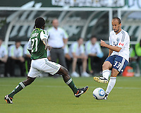 Portland Timbers vs Vancouver Whitecaps FC during the MLS competition at Jeld-Wen Field, Portland Oregon, August 20, 2011.  The Portland Timbers defeated the Vancouver Whitecap FC 2-1.