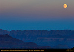 Moon Rising over the North Rim at Twilight from Mather Point, South Rim, Grand Canyon, Arizona