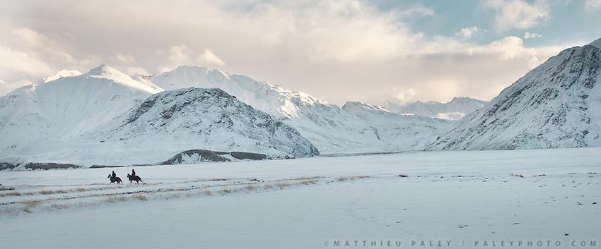View of Pakistan and the Hindukush range from Sarhad village.