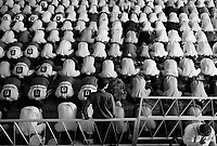 Teheran, Iran, September 28, 2007.Worshippers in their thousands gather every week under a gigantic patio at Teheran University for the Friday prayer.