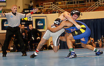 12 MAR 2011:  Nick Walpole of Upper Iowa wrestles T.J. Hepburn of Nebraska-Kearney during the Division II Wrestling Championship held at the Health and Sports Center at the University of Nebraska-Kearney in Kearney, NE.  Walpole defeated  Hepburn 4-2 for the national 149 pound title. Scott Anderson/NCAA Photos