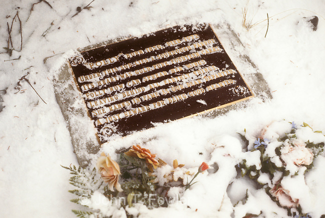 Grave of Polly the parrot, Cemetery at Carcross, Yukon Territory, Canada