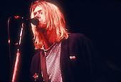 Nirvana ; Kurt Cobain ; New York Coliseum In New York City ; <br /> On 11/14/1993 ;<br /> Photo Credit: Eddie Malluk/Atlas Icons.com
