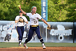 25 April 2016: Notre Dame's Dana Bouquet. The University of North Carolina Tar Heels hosted the University of Notre Dame Fighting Irish at Anderson Stadium in Chapel Hill, North Carolina in a 2016 NCAA Division I softball game. UNC won the game 7-6.