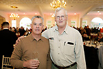 Southington, CT- 24 March 2017-030717CM11- From left, Bob Radovich of Souhthbury and Chip Syombathy of Oxford are photographed during the 25th annual Nutmeg Friends of the NRA dinner at the Aqua Turf in Southington on Friday.     Christopher Massa Republican-American