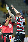 Baden Kerr is checked by Dr Dan Exeter after taking a heavy hit while making a tackle during the ITM Cup Round 7 rugby game between Auckland and Counties Manukau, played at Eden Park, Auckland on Thursday August 11th..Auckland won 25 - 22.