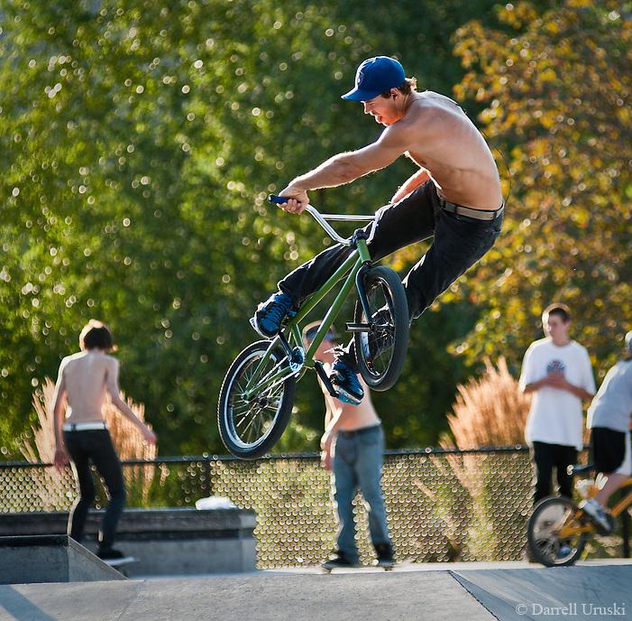 Bike Tricks Bmx Expert BMX biker flips bike