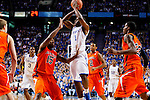 Darius Miller jumps up to throw a pass in the first half of UK's win over the Auburn Tigers at Rupp Arena on Jan. 11, 2011. Photo by Britney McIntosh   Staff