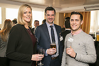 From left are Amy Revell of Paragon Interiors, Joe Hendley of Prometheus Consultancy Services and Trent Peek  of CCM