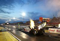 May 15, 2015; Commerce, GA, USA; NHRA top fuel driver Clay Millican during qualifying for the Southern Nationals at Atlanta Dragway. Mandatory Credit: Mark J. Rebilas-USA TODAY Sports