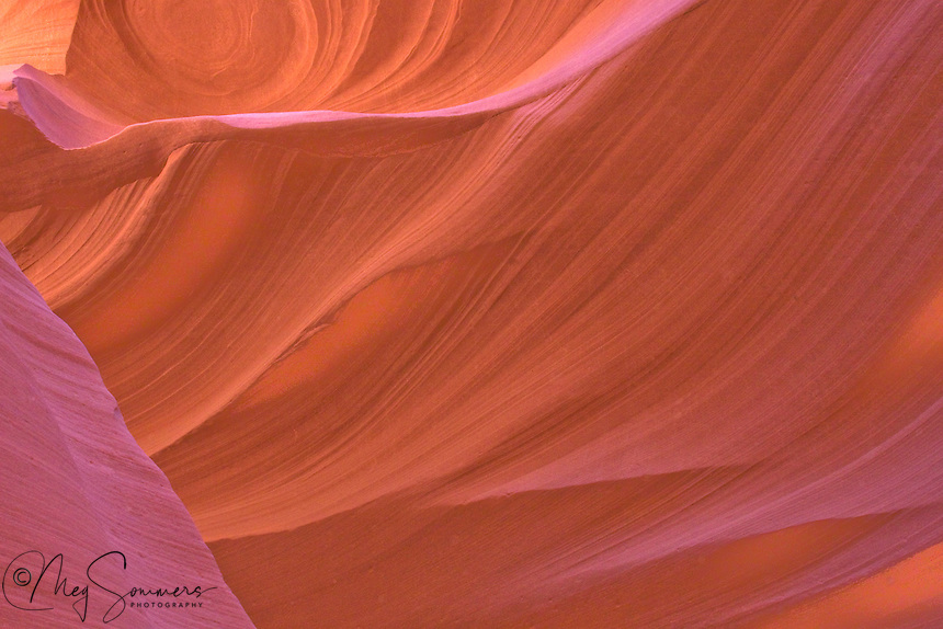 Light and shadow in the Lower Antelope Canyon, Navajo Reservation, near Page, Arizona.