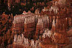 Early morning light inside Bryce Canyon National Park in the late fall.