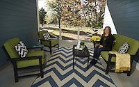 NWA Democrat-Gazette/MICHAEL WOODS &bull; @NWAMICHAELW<br /> Melanie Garner in her favorite space  Wednesday, November 19, 2016 in her breezeway at her Fayetteville home.