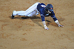 Ole Miss' Tanner Mathis (12) is at third at Oxford-University Stadium in Oxford, Miss. on Wednesday, March 9, 2010.