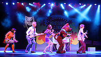 Scooby Doo Live! Musical Mysteries photocall at the London Palladium ahead of the West End opening on August 17th 2016 Featuring: Charlie Bull (Daphne), Chris Warner Drake (Fred), Rebecca Withers (Velma), Charlie Haskins (Shaggy), Joe Goldy (Scooby-Doo)<br /> CAP/ROS<br /> &copy;Steve Ross/Capital Pictures /MediaPunch ***NORTH AMERICAS ONLY***
