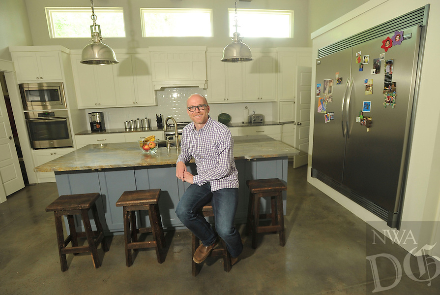 NWA Democrat-Gazette/MICHAEL WOODS --06/04/2015--w@NWAMICHAELW... Kenneth Medlin in his kitchen at his Bentonville home.