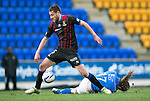 St Johnstone v Inverness Caledonian Thistle....22.02.14    SPFL<br /> Gary Warren gets the better of Stevie May<br /> Picture by Graeme Hart.<br /> Copyright Perthshire Picture Agency<br /> Tel: 01738 623350  Mobile: 07990 594431