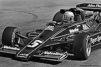 LONG BEACH, CA - APRIL 2: Mario Andretti drives in the 1978 United States Grand Prix West on April 2, 1978, at the  Long Beach Street Circuit in Long Beach, California.