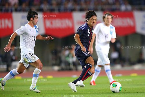 Yasuhito Endo (JPN), AUGUST 14, 2013 - Football / Soccer : <br /> KIRIN Challenge Cup 2013 match <br /> between Japan 2-4 Uruguay <br /> at Miyagi Stadium, Miyagi, Japan.<br />  (Photo by AFLO SPORT)
