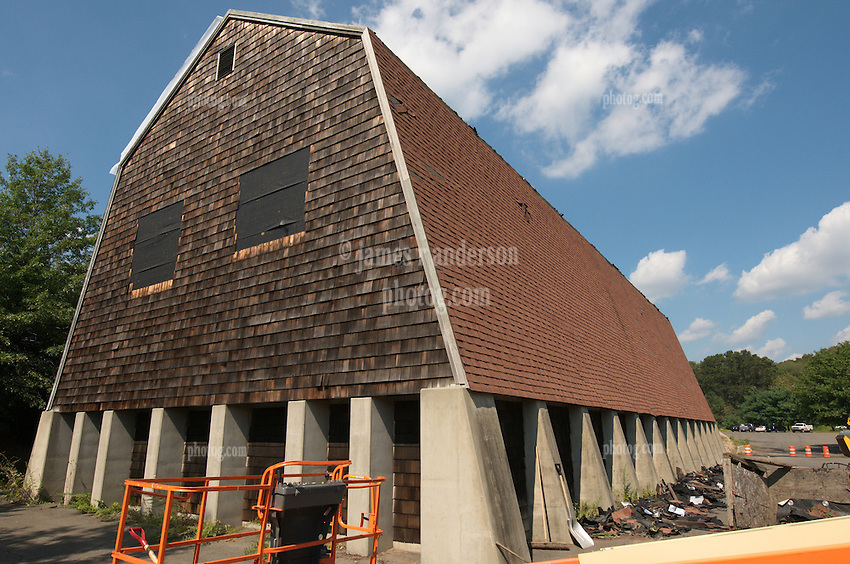 CT-DOT Orange Salt Shed Rehabilitation Project. No. 0106-0123. Construction Progress Views, Second Shoot.