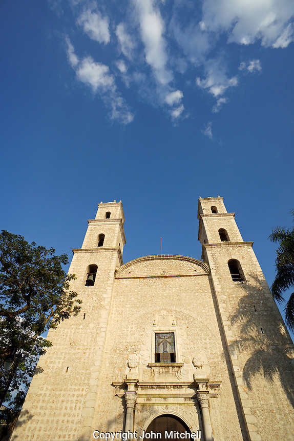 The Iglesia de la Tercera Orden or Iglesia de Jesus church in Merida, Yucatan, Mexico.