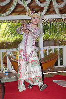 Myanmar, Burma. Bagan.  Burmese Male Traditional Dancer.