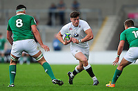 Johnny Williams of England U20 in possession. World Rugby U20 Championship Final between England U20 and Ireland U20 on June 25, 2016 at the AJ Bell Stadium in Manchester, England. Photo by: Patrick Khachfe / Onside Images