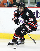 Rob Dongara (Northeastern - 39) - The visiting Northeastern University Huskies defeated the University of Massachusetts-Lowell River Hawks 3-2 with 14 seconds remaining in overtime on Friday, February 11, 2011, at Tsongas Arena in Lowelll, Massachusetts.