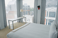 room at the st martins lane hotel in london, desgned by philippe stark. 08-02