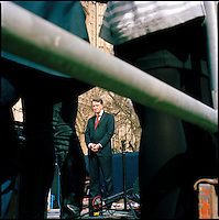 Abingdon Street Gardens (College Green) on the day that Prime Minister Gordon Brown announced the date of the next General Election..Photos shows Lord (Peter) Mandelson, architect of New Labour.