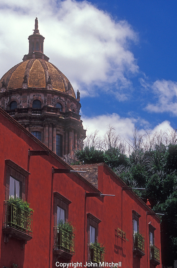 Apartments in a restored Spanish colonial building in San Miguel de Allende, Mexico