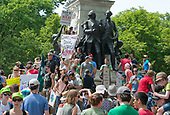 Thousands of people are in the streets of the Nation's Capital as part of the &quot;Peoples Climate March&quot; in Washington, DC on Saturday, April 29, 2017.<br /> Credit: Ron Sachs / CNP
