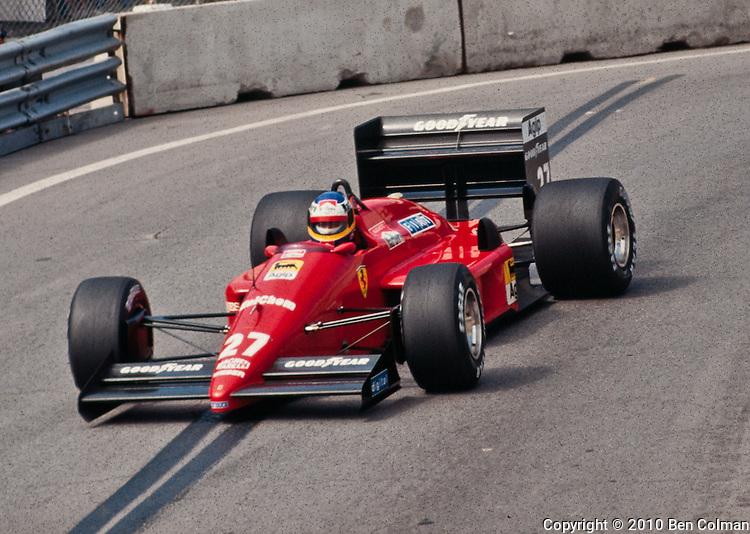 Michele Alboreto, Ferrari F1/87-88C, Detroit 1988