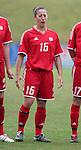 Katie Thorlakson of Canada, on Sunday June 26th, 2005, during an international friendly soccer match at Virginia Beach Sportsplex in Virginia Beach, Virginia. The United States won the game 2-0.