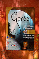 """Poster Announcing Tenth Anniversary of Goree Island's """"Open Courtyards"""" Arts Festival.  Senegal"""