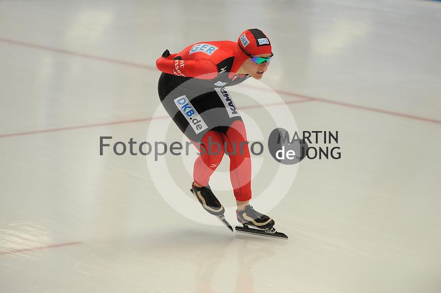 SCHAATSEN: INZELL: Max Eicher Arena, 10-02-2013, Essent ISU World Cup, Season 2012-2013, 3000m Ladies, A-division, Stephanie Beckert (GER), ©foto Martin de Jong
