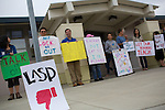 Protest at Los Altos School District Headquarters