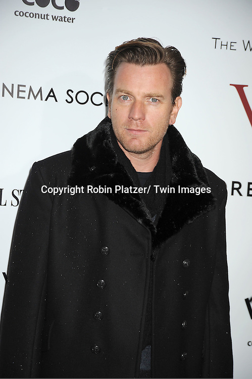 "Ewan McGregor arrives for the New York Premiere of ""W.E."" on ..January 23, 2012 at The Ziegfeld Theatre in New York City. Madonna directed the movie. The sponsors of the premiere are The Weinstein Company, The Cinema Society and Forevermark."