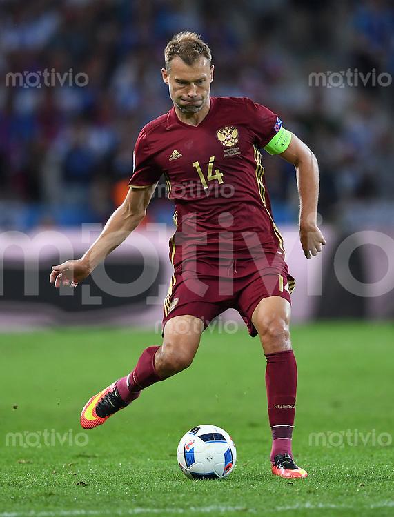 FUSSBALL EURO 2016 GRUPPE B IN LILLE Russland - Slowakei     15.06.2016 Vasili Berezutski (Russland)