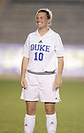 Duke's Heidi Hollenbeck on Wednesday, November 2nd, 2005 at SAS Stadium in Cary, North Carolina. The Duke University Blue Devils defeated the Boston College Eagles 2-0 during their Atlantic Coast Conference Tournament Quarterfinal game.
