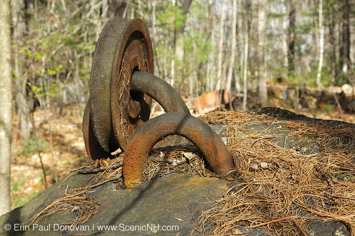 The abandoned Redstone Granite quarry in Conway, New Hampshire USA.