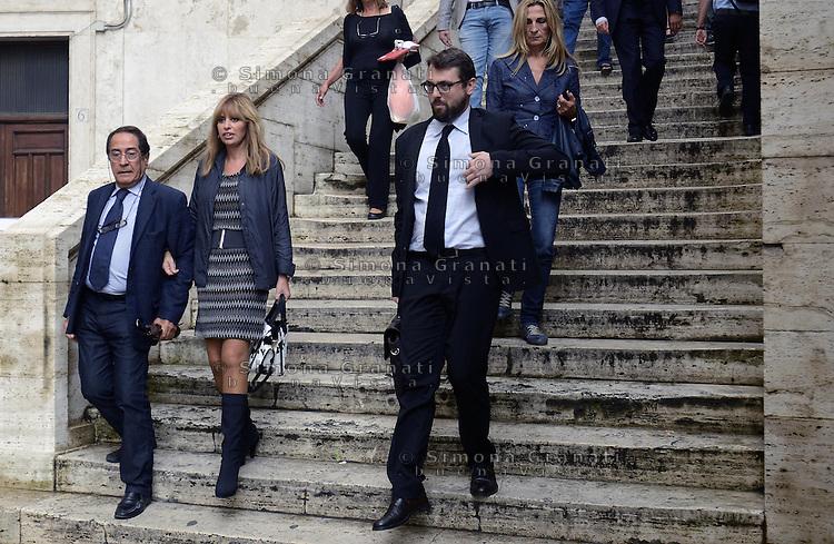 Roma, 30 Settembre 2013<br /> Parlamentari del PDL verso la riunion del gruppo a Montecitorio<br /> Nella foto Alessandra Mussolini
