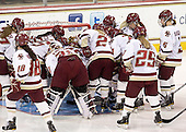 - The Boston College Eagles defeated the visiting Mercyhurst College Lakers 4-2 (EN) on Friday, December 9, 2011, at Kelley Rink/Conte Forum in Chestnut Hill, Massachusetts.