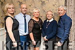 Patsy Stone, David Stone, June McCauley, Esther Brosnan and Billy Brosnan, enjoying the Kerins Park 50th anniversary social held at The Rose Hotel, Tralee, on Saturday night last.