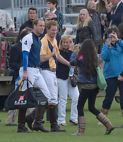 Prince William & Prince Harry at a polo match charity event - UK