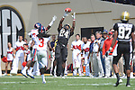 Vanderbilt running back Wesley Tate (24) makes a catch in Nashville, Tenn. on Saturday, September 17, 2011. Vanderbilt won 30-7..