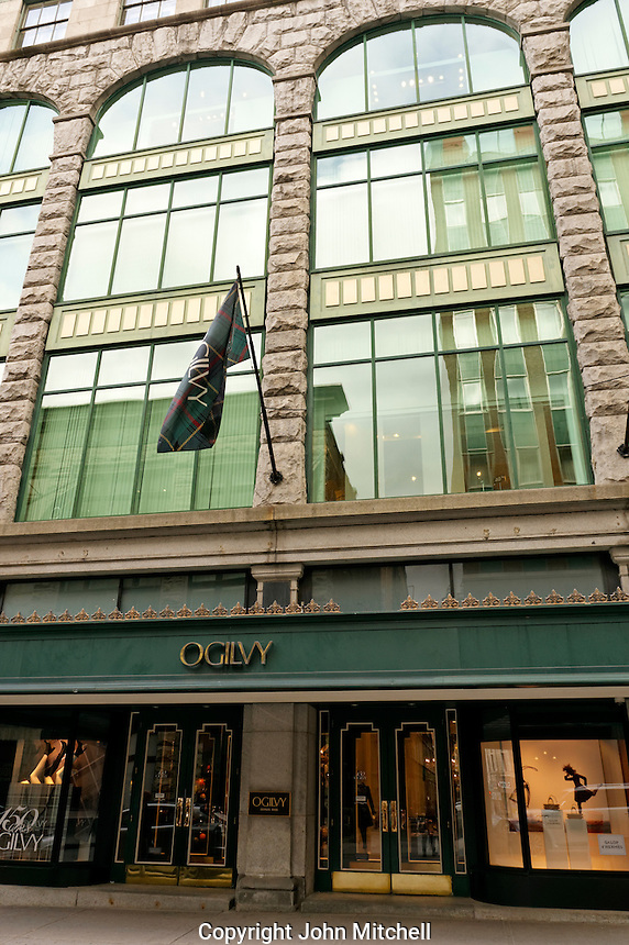 Historic Ogilvy department store in downtown Montreal, Quebec, Canada