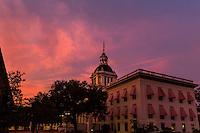 TALLAHASSEE, FLA. 7/13/15-Florida's Historic Capitol building at sunset.